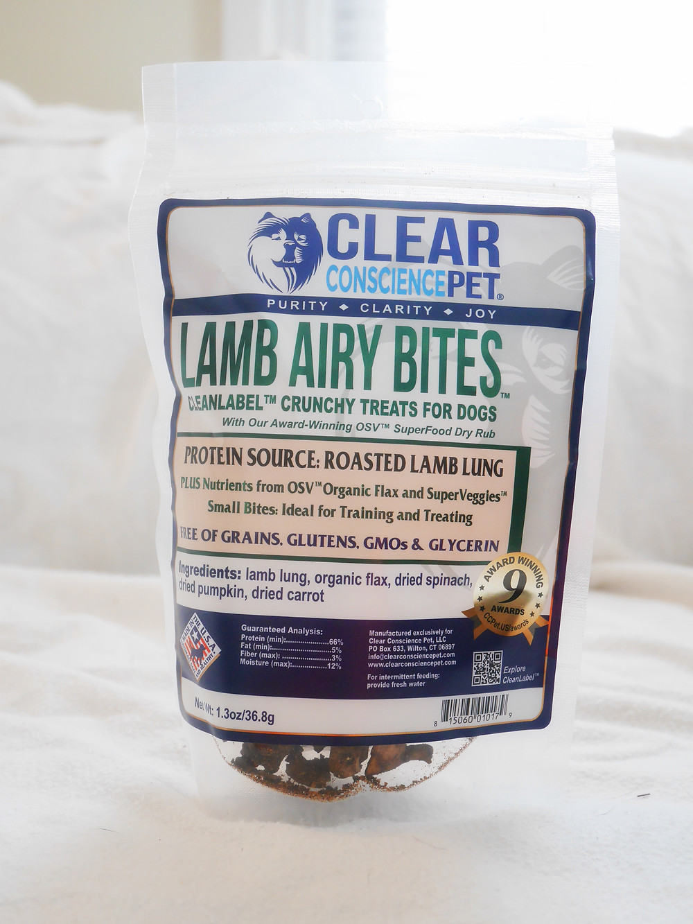 Lamb Airy Bites by Clear Conscience Pet