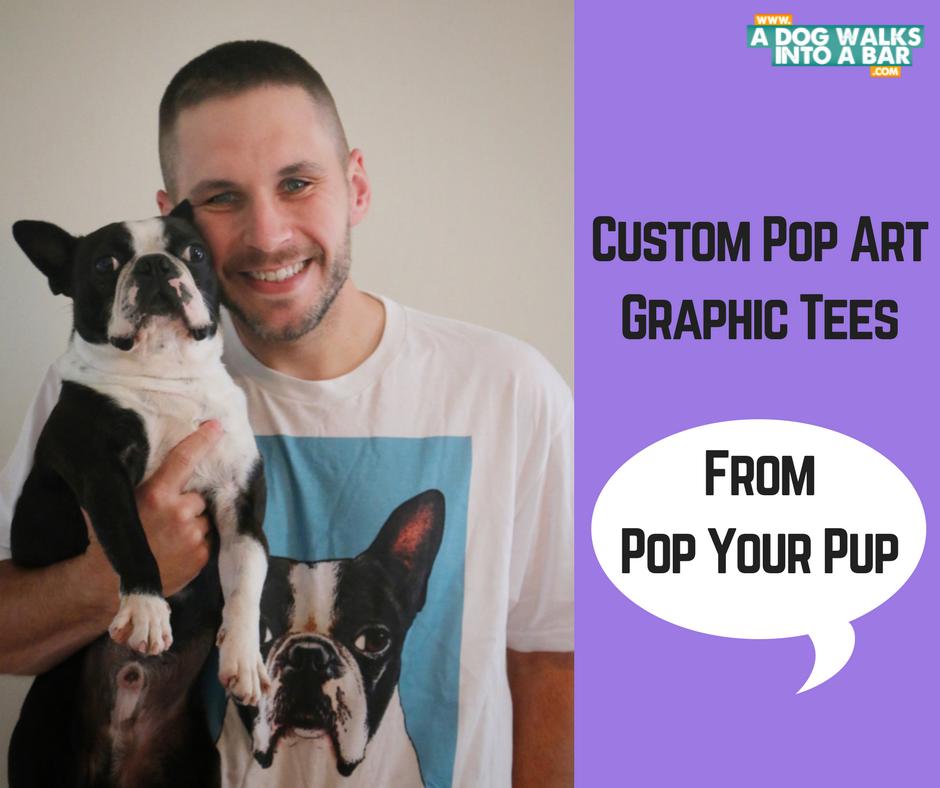 The husband sporting a Yoda Pop Your Pup Custom T shirt