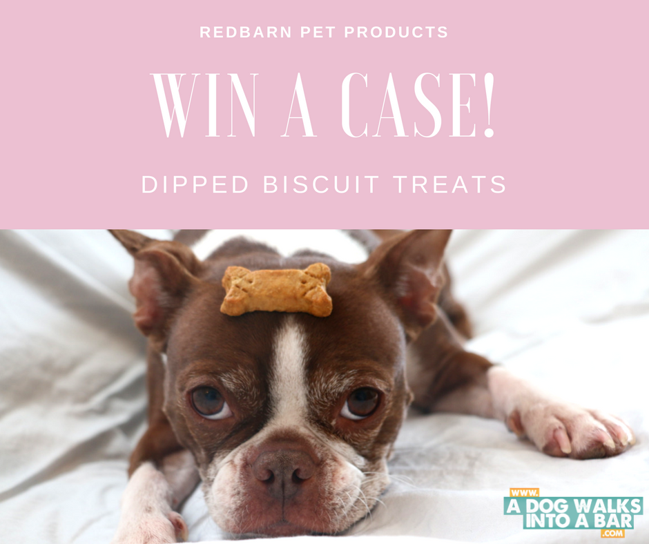 win a case of RedBarn Pet Products Dipped Biscuits