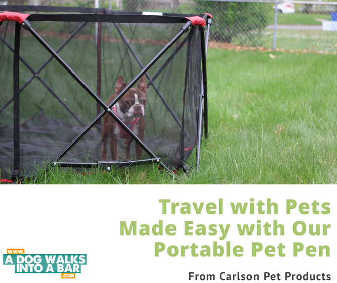 Five Reasons Why We Love Our Portable Pet Pen from Carlson Pet Products