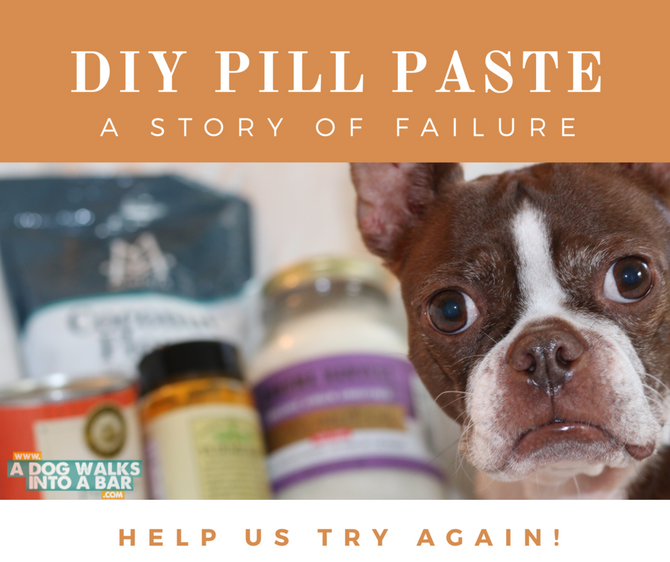 DIY Pill Paste for Dogs, A Failure