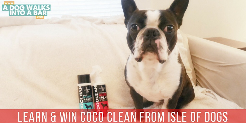 Yoda with shampoo and spray from the Isle of Dogs CoCo Clean Line
