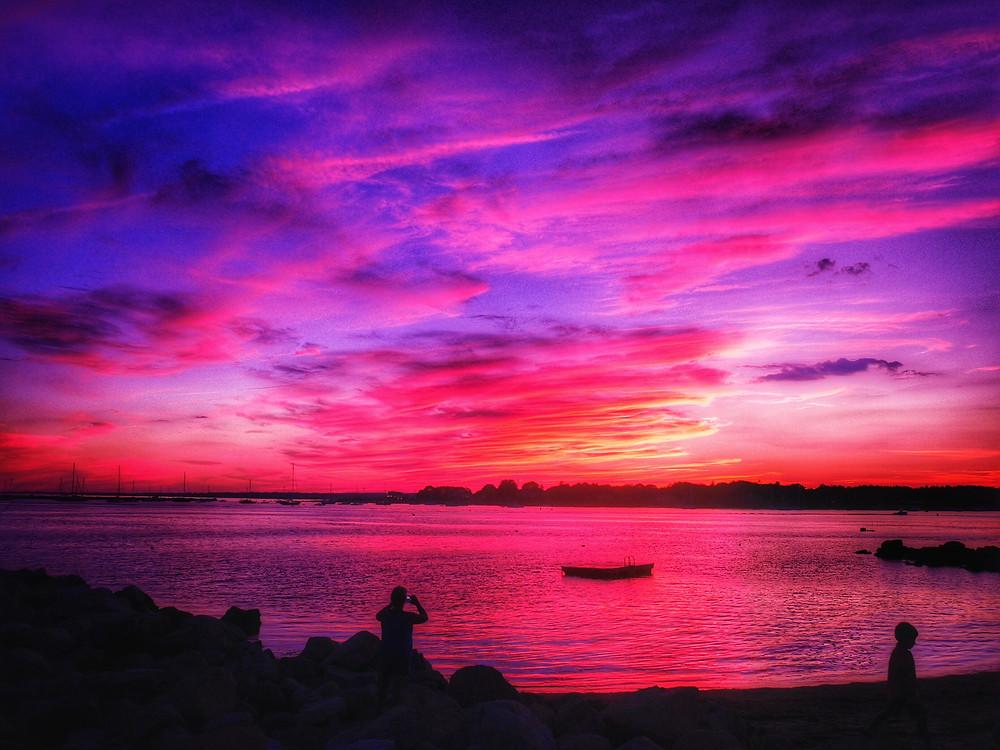 A Sunset in Mystic, Connecticut