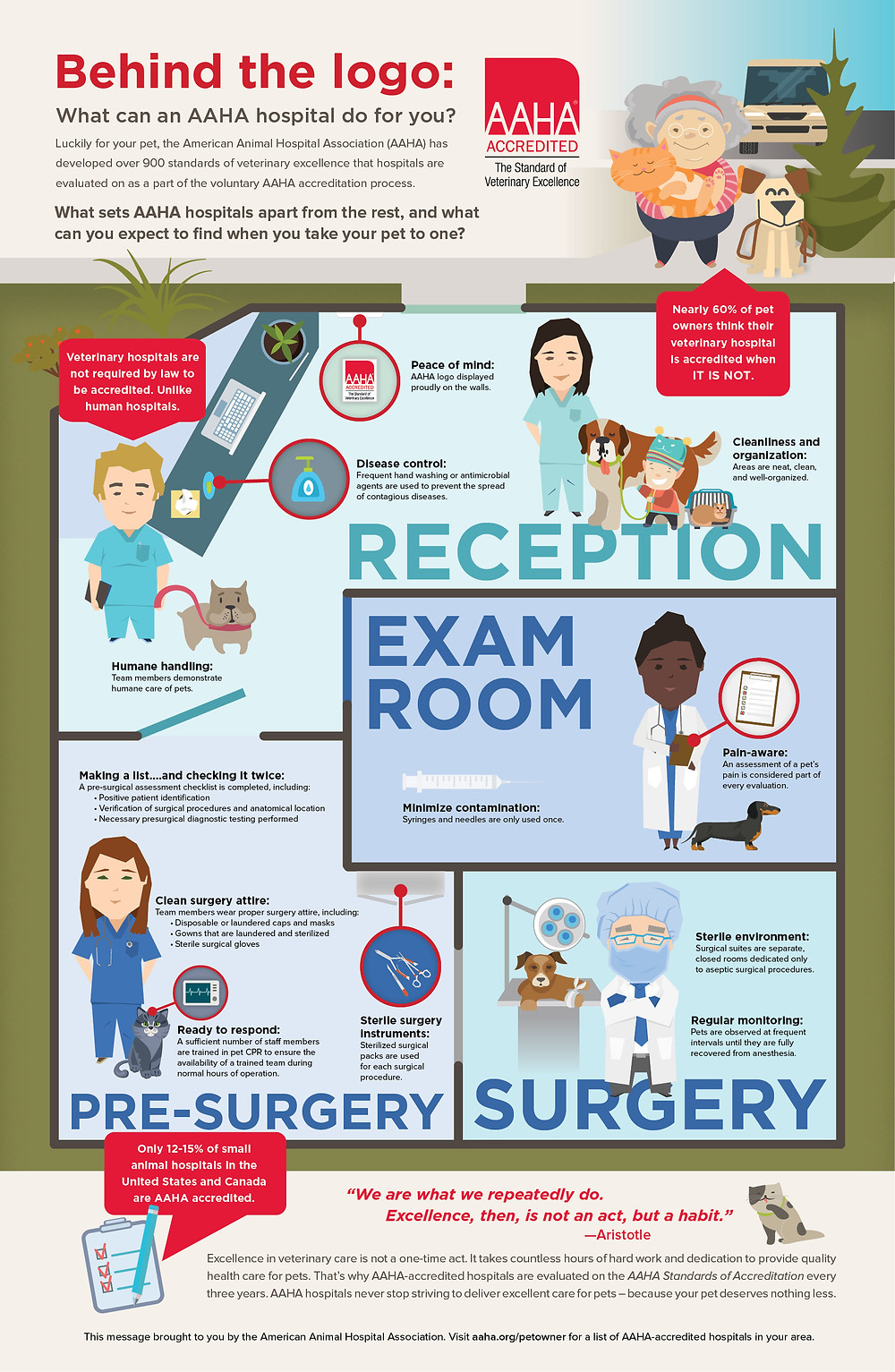 Why AAHA Accreditation is important from this infographic from their site