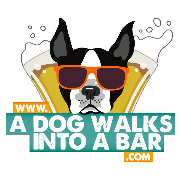 a dog walks into a bar