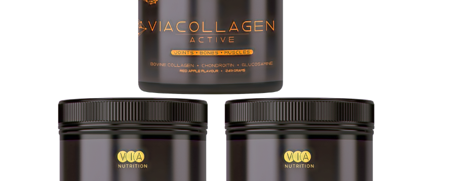 2 x ViaCollagen Glow - Cherry Flavour - 1 x ViaCollagen Active - Red Apple