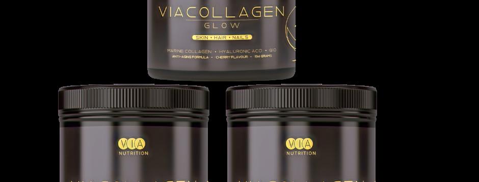 3 x ViaCollagen Glow - Cherry Flavour