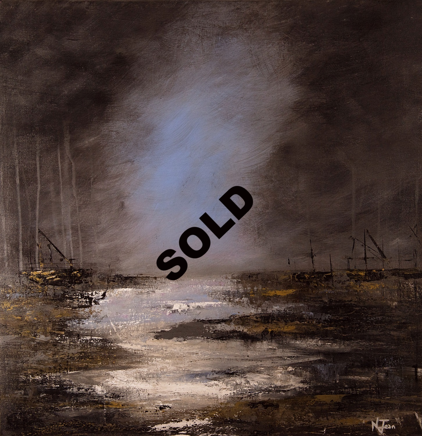 SOLD abstract landscape