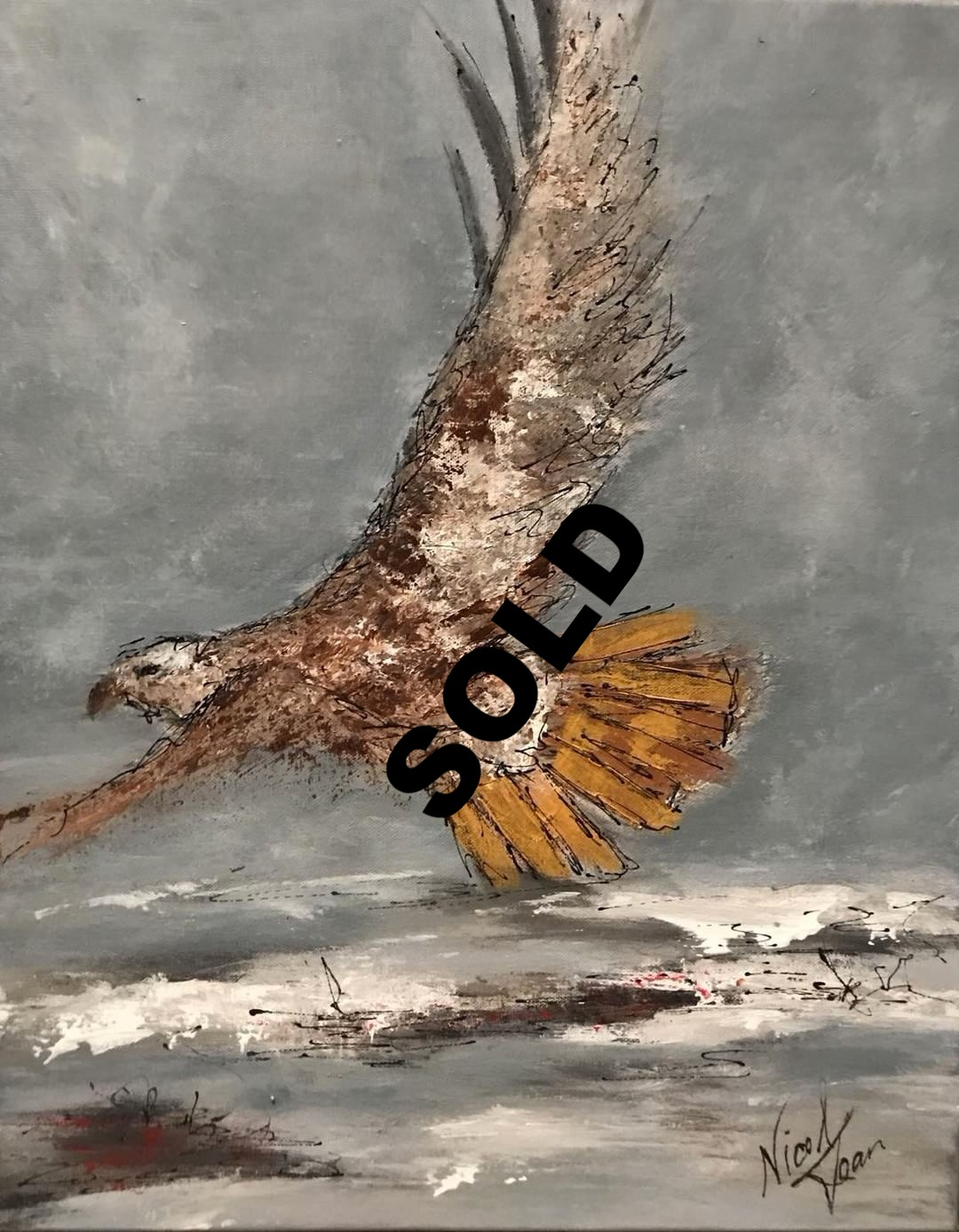 SOLD  Red Tail Beauty