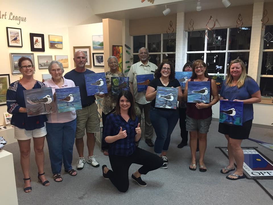 Blue Skies Gallery Paint night