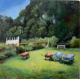 Rocco Gardens Painswick _ Oil _ Panel _ 30 x 30 _ Available _ £150