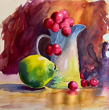 Still Life with Pear _ Watercolour _ Paper _ 30 x 33 _ Available _ £85