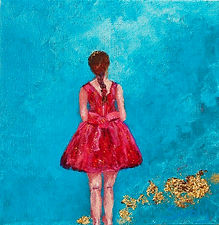 Waiting in the wings _ Mixed Media _ 20 x 20 _ Available _ £45