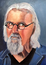 Billy Connolly _Oil _ Panel _38 x 40 _Available _ £200