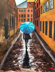 Wandering in Milan _ Acrylic _ Board _ 23 x 30 _ SOLD