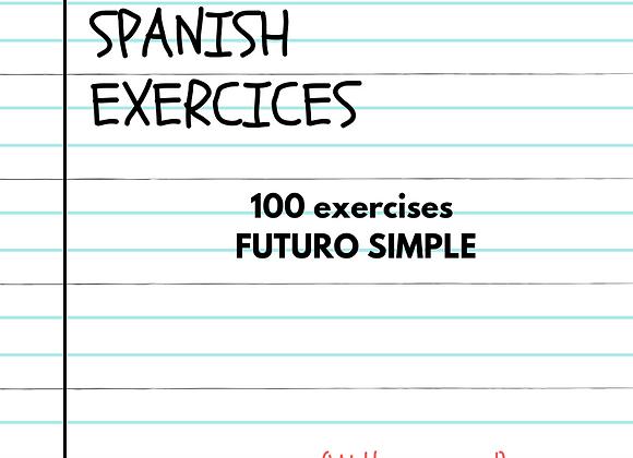 100 EJERCICIOS FUTURO SIMPLE