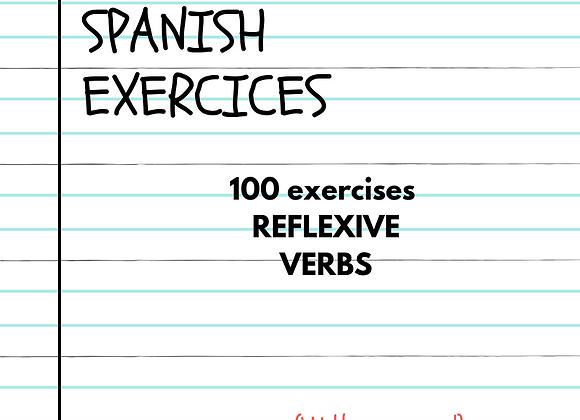 100 EJERCICIOS DE VERBOS REFLEXIVOS