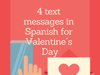 4 text messages in Spanish for Valentine´s day