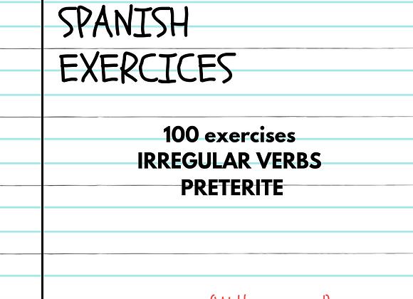 100 EJERCICIOS  PASADO SIMPLE VERBOS IRREGULARES