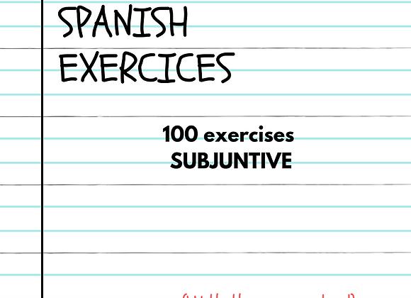 100 EJERCICIOS PRESENTE DE SUBJUNTIVO