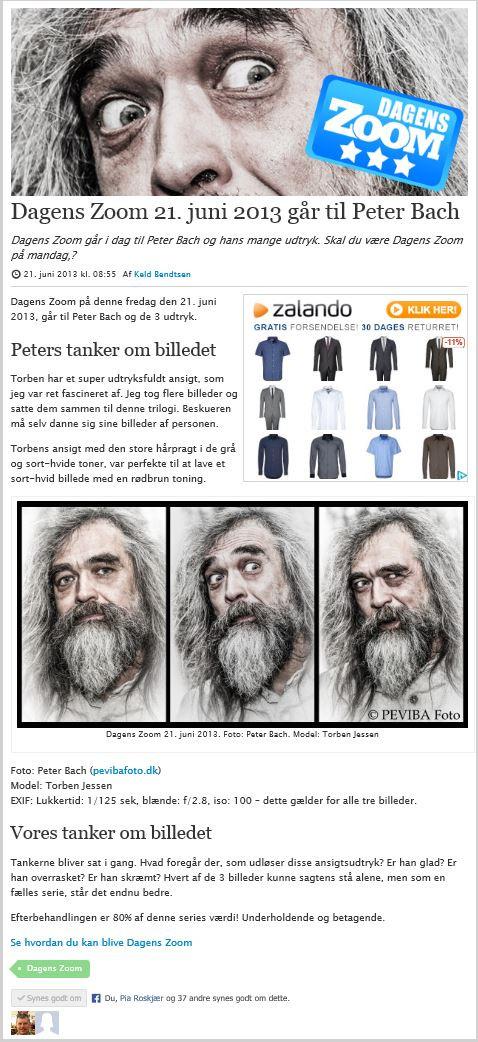 Publikation i online magasinet Zoom