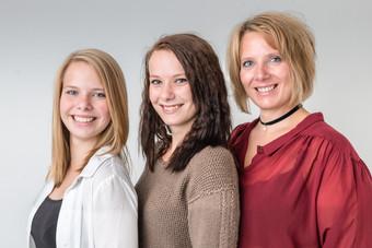 Camilla, Cecilie og Pernille Ebberup