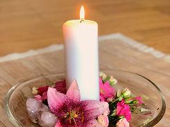 Kerze zum Meditieren