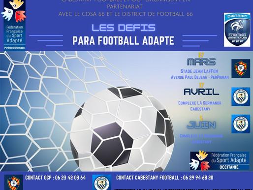 Les Défis Para Football Adapté du 66 sont lancés !