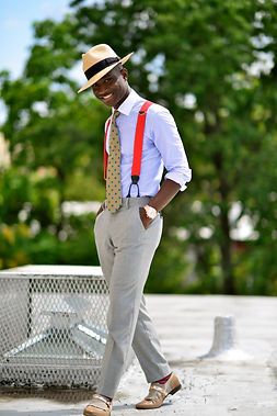 Panama hat with a formal look