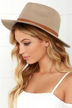 Beige handmade felt hat