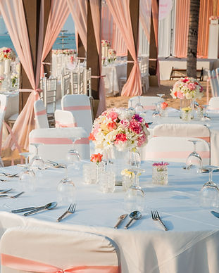 Wedding Tables, Quinceanera tables