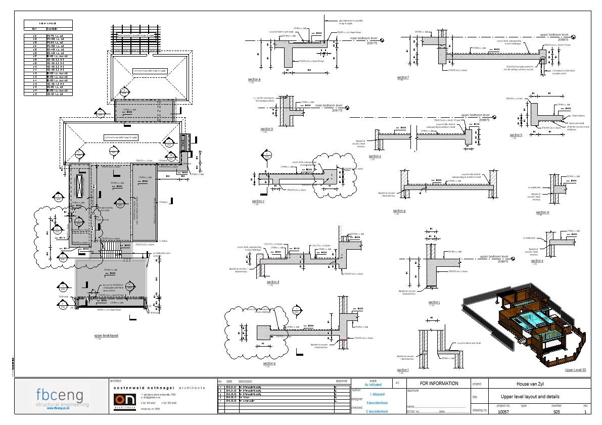 House van Zyl_rev1 Working - Sheet - S03