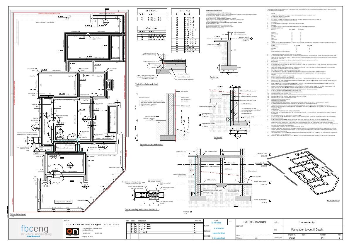 House van Zyl_rev1 Working - Sheet - S01