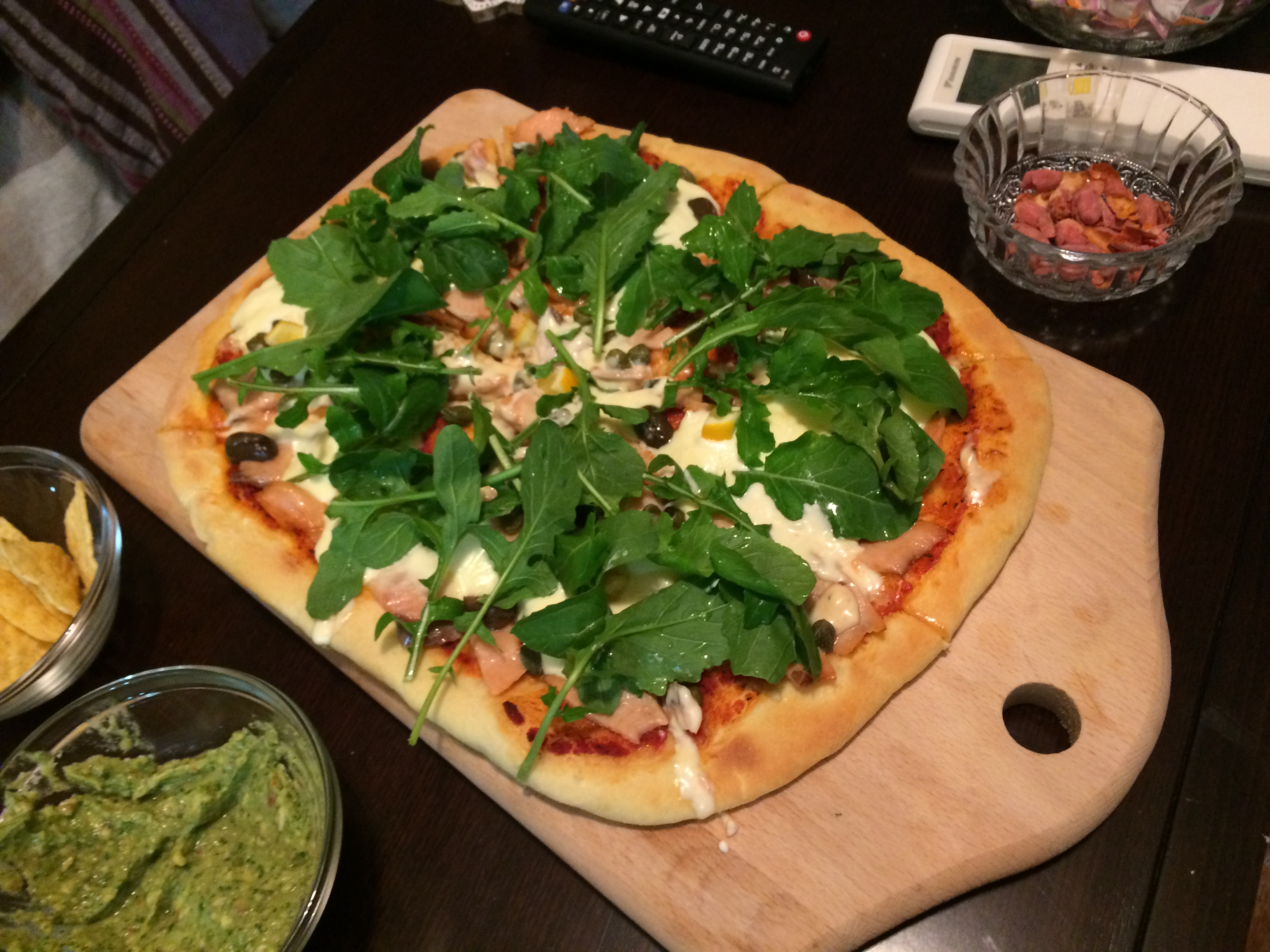 Pizza cu Somon și Mascarpone