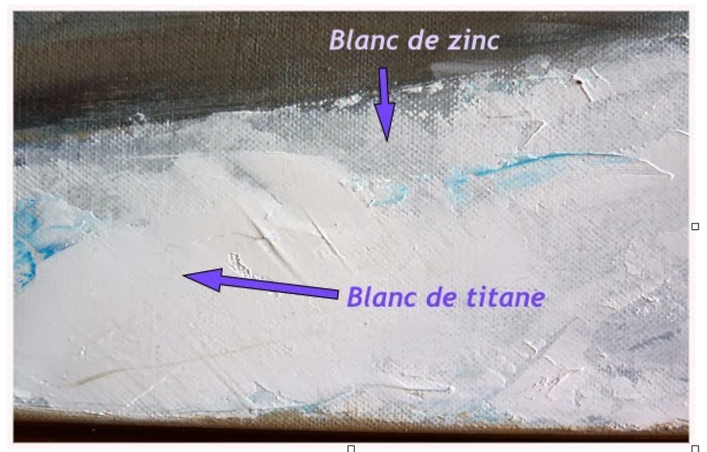 Qu'elle est la différence entre le blanc de titane et le blanc de zinc