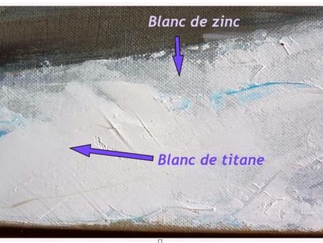 Quelle est la différence entre le blanc de titane et le blanc de zinc?