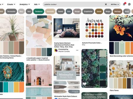 Agencement et choix de couleurs pour l'art abstrait