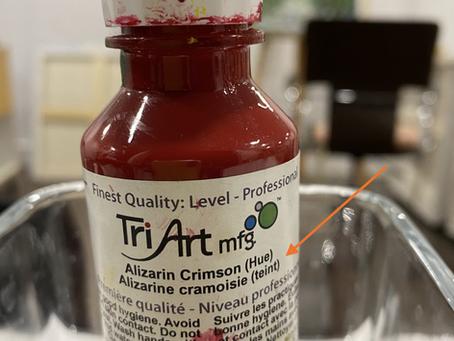 C'est quoi Hue et Teint à la fin du nom de la couleur sur un tube de peinture?
