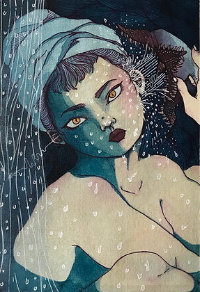 A Wet Nightmare She Will Never Wake Up (13x 18.5cm)
