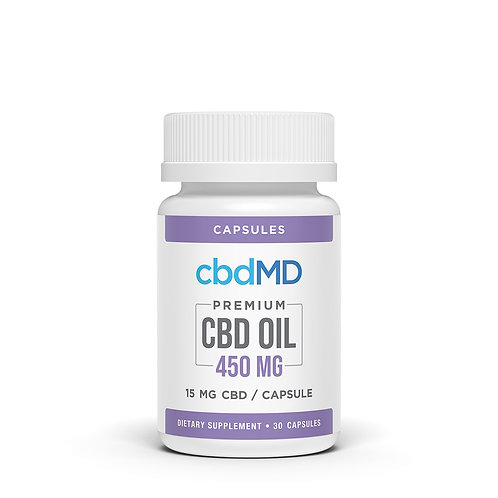 cbdMD 450mg Broad Spectrum capsules