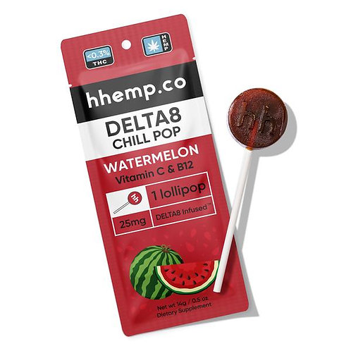 hhemp Delta 8 - 25mg lollipops
