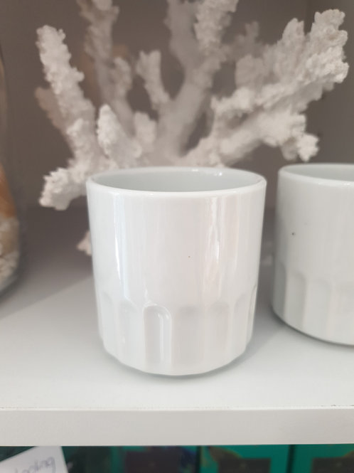 White ceramic tea light holder