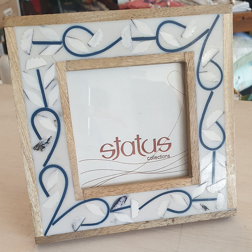 Status collections 4x4'' blue inlay frame
