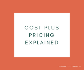 Cost plus pricing explained