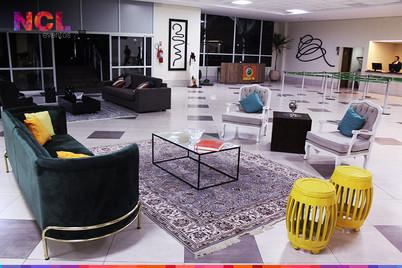 Lounges da Recepção Provisória do Hotel Tauá Atibaia
