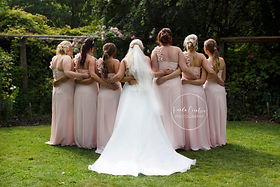 Bridesmaid and Bride dresses photography