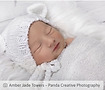 Newborn Girl, White teddy hat, Wrapped Newborn