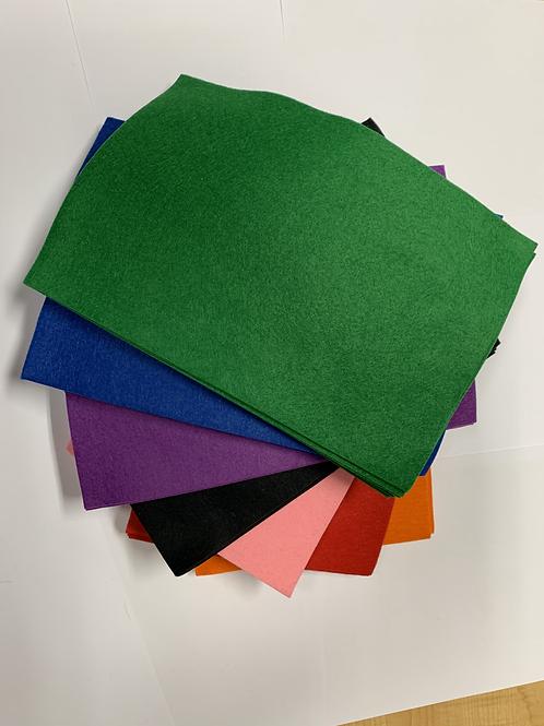 Wool/Rayon Felt GREEN
