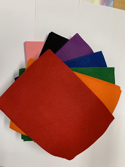 Wool/Rayon Felt RED
