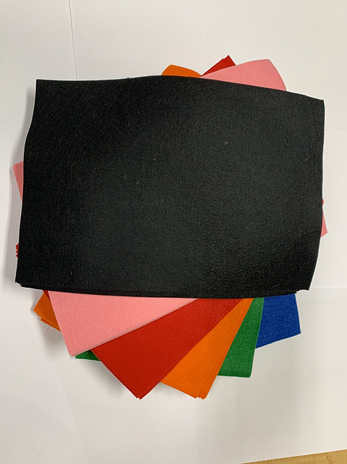 Wool/Rayon Felt BLACK